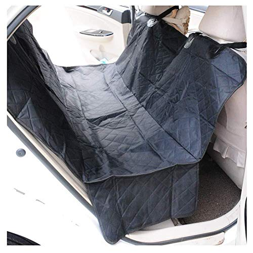 Jdk Pet Car Seat Cover Travel Dog Pad Thicken Protection Pad Back Row Seat Cover Hanging Curtain Design, 4 Colour Easy To Install, Fit Most Car, Truck, Suv, Or Van (Color : Black)