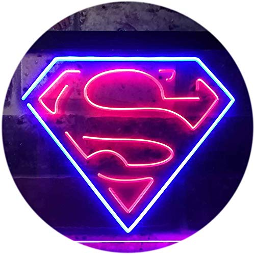 TeroLED Superman Hero Colorful LED Neon Sign Blue and Red w16 x h12