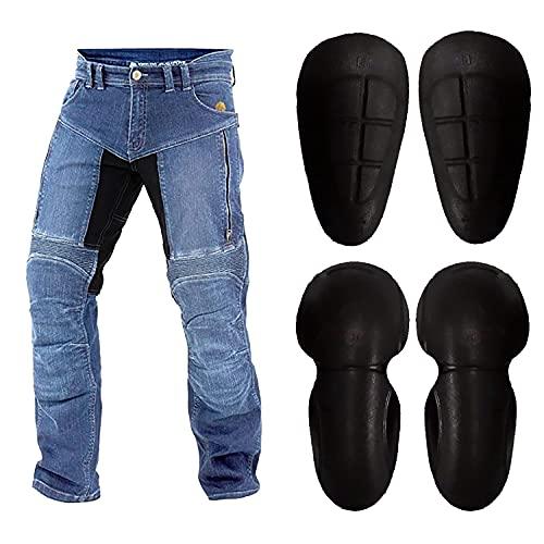 jeans moto uomo WinNet Jeans da Moto con Inserti in Kevlar Anti Abrasione da Uomo