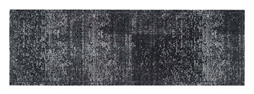 Teppich Teppiche Küchen Küche Küchenläufer Matte Küchenteppich Läufer Teppich Antirutschmatte Flur - waschbarer waschbar rutschfest - anthrazit - grau - verspielt - vintage Größe 50 x 150 cm
