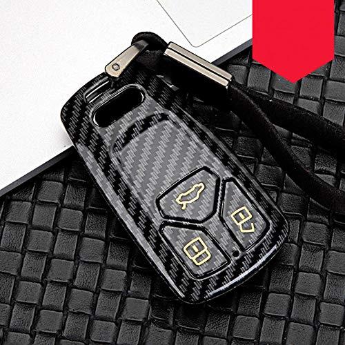 TMAAORS Car Key Covers,For Audi A1 A3 A4 A5 A6 A7 A8 B9 Quattro TT TTS 8S Q3 Q5 Q7 2009-2017
