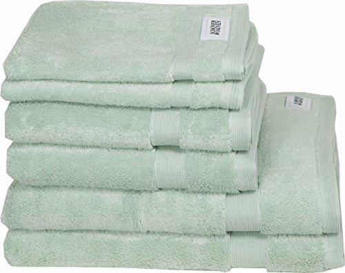 Schöner Wohnen Kollektion 6er Handtücher Set Mint • Frotteetücher Cuddly • Dusch-Hand- & Gästetücher 6teilig • 100% Baumwolle
