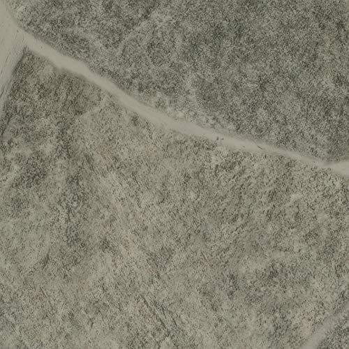 BODENMEISTER BM70620 Vinylboden PVC Bodenbelag Meterware 200, 300, 400 cm breit, Fliesenoptik Steinoptik hell-grau