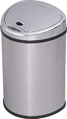 アイリスプラザ ゴミ箱 おしゃれ 自動 自動ゴミ箱 キッチン 生ゴミ ふた付き 48L 匂いが漏れない センサー シルバー