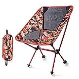 Silla De Camping Silla de la Pesca de Camuflaje Oxford Silla Que acampa de la Comida campestre Silla Plegable de Peso Ligero Resistente (Color : Red Camouflage)