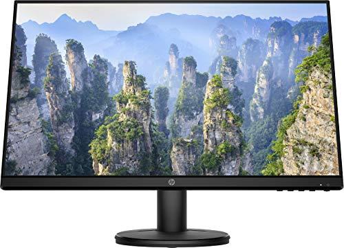 HP - PC V24i Monitor, Schermo 24 Pollici IPS Full HD, Risoluzione 1920 x 1080, Micro-Edge, Antiriflesso, Tempo di Risposta 5 ms, Comandi sullo Schermo, HDMI e VGA, Reclinabile, Nero