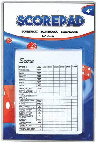 Sale Special Price Speel Goed Max 40% OFF 0647060–Dice Game 100Sheet Pad Paper