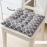 Mkuha 4er Set Stuhlkissen Sitzkissen mit Haltebändern, Warm Baumwolle und Leinen Sitzauflage für...