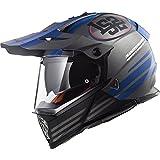 404362307L - LS2 MX436 Pioneer Quarterback Dual Sport Helmet L Matt Titanium