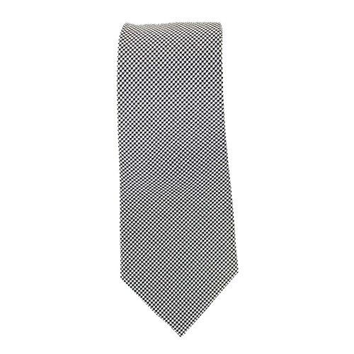 Cotton Park - Cravate 100% soie grise - Homme