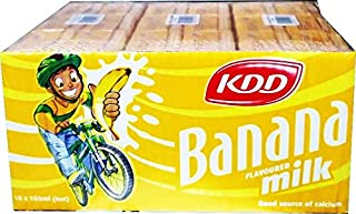 KDD Banana Flavored Milk 180ML (18 PACK)