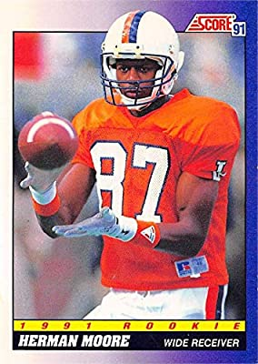 Herman Moore football card (Virginia Cavaliers) 1991 Score Rookie #568