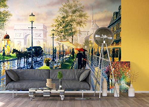 AG Design FTxxl 0366 Parijse Weg Ken Shotwell, papieren fotobehang - 360x255 cm - 4 stuks, papier, multicolor, 0,1 x 360 x 255 cm
