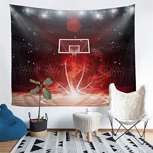 NOADREAM Tapiz Colgante De Pared Profesional Baloncesto Arena,decoración De La Pared De Fondo del Dormitorio De La Sala De Estar con Decoración De La Residencia del Artista (A,59x79in-150x210cm)