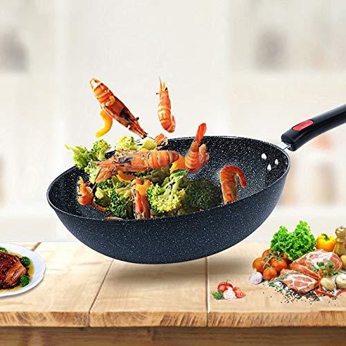 PP Steintopf Antihaft-Topf, Cooker Healthy Wok, leicht zu reinigen, geeignet for Jede Stovediameter: 32 cm, Gailingshangmaoyouxiangongsi