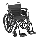 Drive Medical Cruiser X4 Lightweight Wheelchair, Adj Desk Arms, Swing Away Footrests, 16""
