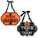 DII Indoor and Outdoor Wood Fall Halloween Hanging...