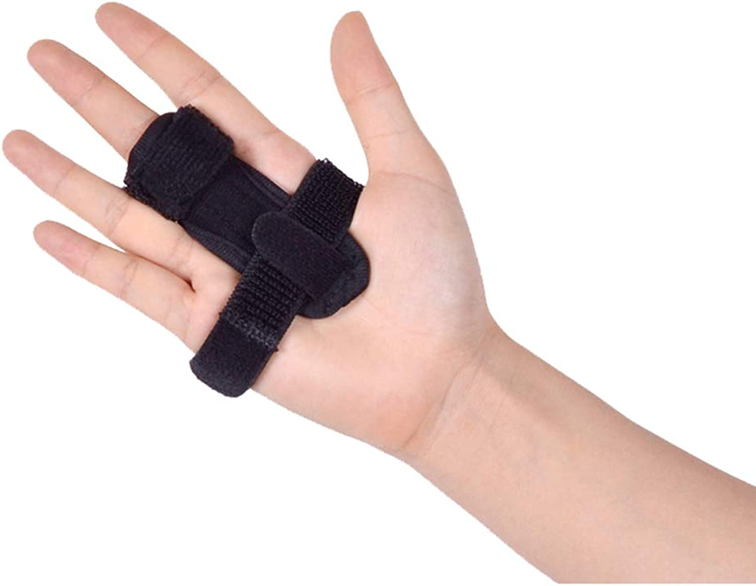 Finger Clip, Aluminum Alloy, One Size, Breathable Section, Suitble for Finger Fracture Fixed Injured Finger Predection,Black