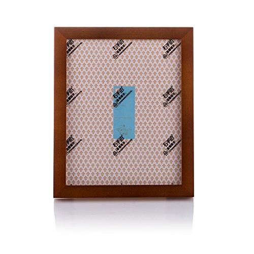 Fulemay Marco de fotos simple de madera maciza 8x12 Marco de fotos de alta calidad Glamorous Look para pantalla de mesa y decoración de paredes (marrón, 8x12)