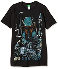 Bravado Star Wars-Boba Fett Sketch Camiseta para Hombre