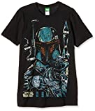 Bravado Star Wars-Boba Fett Sketch Camiseta, Negro (Schwarz 001), L para Hombre