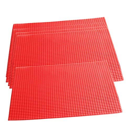 Bonarty 5er Pack Dachziegel Kunststoffplatte Modellbauplatte Ziegel Platten für Modellbau Basteln
