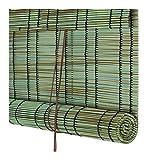 YANZHEN-Bambus Rollo Schatten Bambusrollo Pavillon UV-Blockierung Lichtübertragung Wasserdicht Schilf, Größenanpassung (Color : A, Size : 80x180cm)