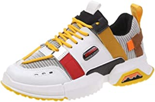 HXSD Old Shoes Women, Students Breathable Casual Shoes, Women's Shoes, Fashion, Wearable, Comfortable (Color : Yellow, Size : 37EU)