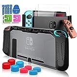Pengkun Carcasa para Nintendo Switch - Funda para Nintendo Switch 13 en 1 Kit de Accesorios, TPU...