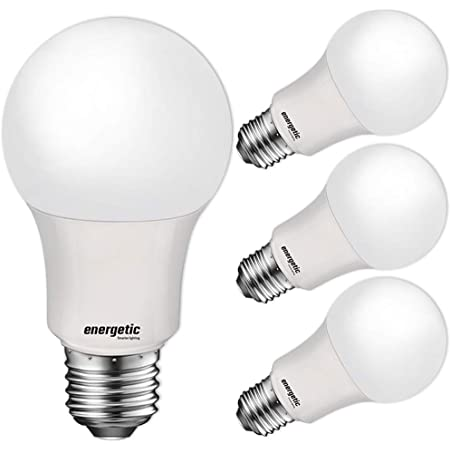 60W Equivalent A19 LED Light Bulb, Soft White 2700K, E26 Standard Base, UL Listed, Non-Dimmable LED Light Bulb, 15000 Hrs, 4 Pack