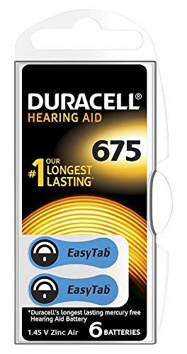 DURALOCK 96077580 Lot de 6 piles pour appareil auditif DA675