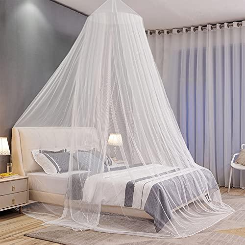 Moskitonetz Baldachin Mückennetz Bett Hängendes Moskitonetz für Kinderbett, Betthimmel mit Aufhängeset Aufbewahrungstasche für Einzelbett Doppelbett Hängematte Zuhause Reisen Camping Insektenschutz