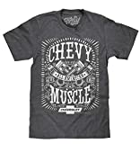 chevy silverado shirts for men - Tee Luv Chevy Shirt All American Muscle - Chevrolet Graphic Tee Shirt (Small) Dark Heather