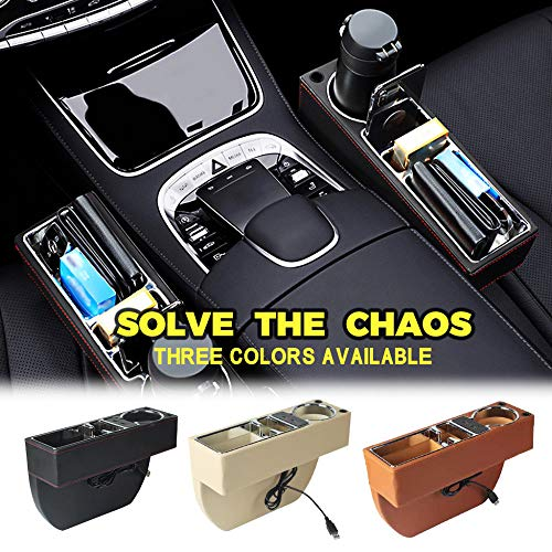 BYWWANG Siège de Voiture Crevice Box Storage Cup Holder Holder Organisateur Auto Pocket Stowing Box Seat Storage Box
