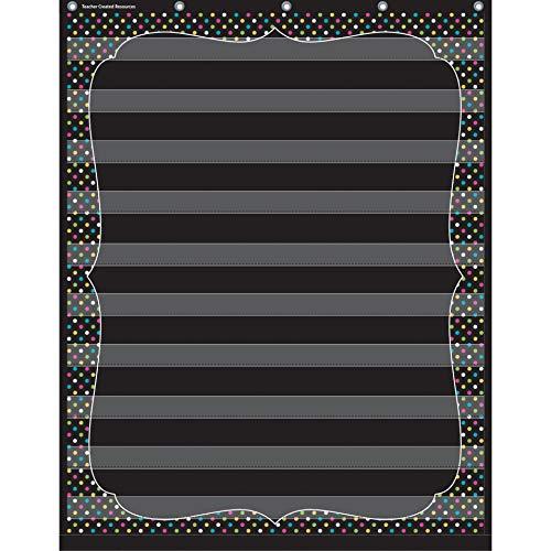 Teacher Created Resources Chalkboard Brights 10 Pocket Chart (20746), Black, 34inx44in