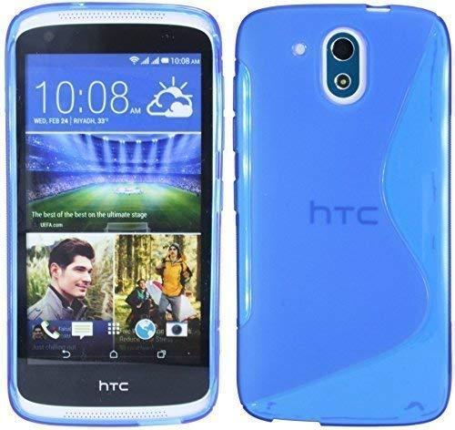 ENERGMiX Silikon Hülle kompatibel mit HTC Desire 526G Tasche Hülle Gummi Schutzhülle Zubehör in Blau