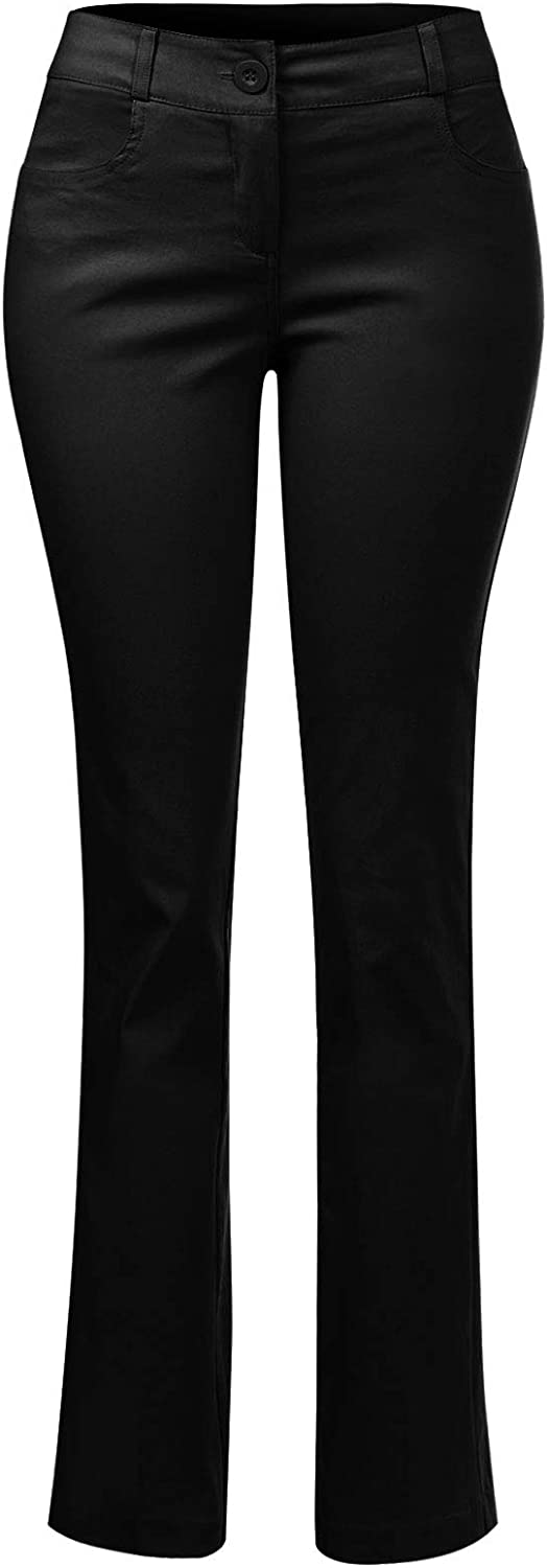 Design by Olivia Women's Comfy Bootcut Curvy Fit Trouser Pants