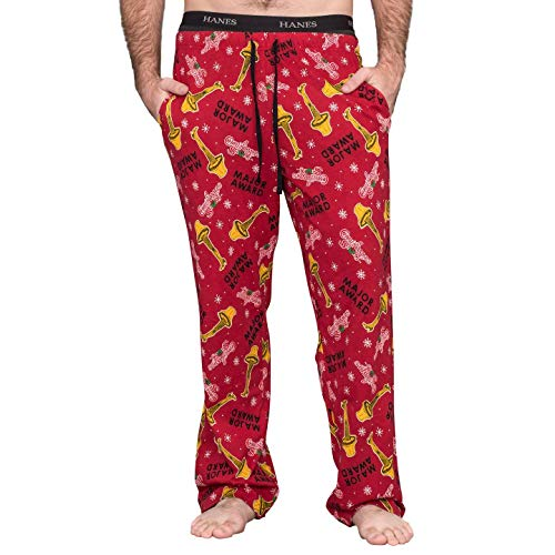 A Christmas Story Major Award with Leg Lamp Red Lounge Pants (Adult Small)