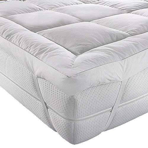 AR'S HOTEL QUALITY(Microlite) MICRO FIBER MATTRESS TOPPER THICK 5 CM, BOX STITCHED,IN, ANTI ALLERGENIC (Cot/Cot Bed)