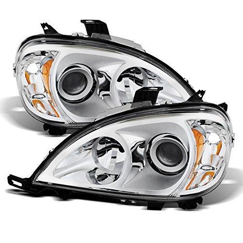 ACANII - For [Halogen Model] 1998-2001 Mercedes-Benz W163 ML320 ML430 Chrome Housing Headlights Headlamps Left+Right