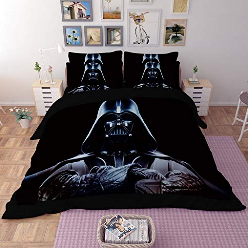 Soft Breathable Durable Microfiber Bedding Set,Best Gift for Kids Teens 3Pcs(1 Duvet Cover and 2Pillowcases) The Mandalorian Baby Yoda Duvet Cover Set Twin Size,3D Star Wars Comforter Cover