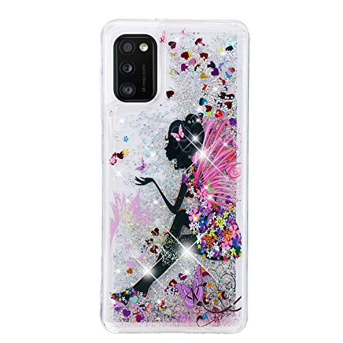 Glitter Case for Samsung Galaxy S8 Plus Case Glitter Liquid Crystal Quicksand Bling Slim Girls Soft TPU Bumper Silicone Protective Shockproof Cover - Female elf
