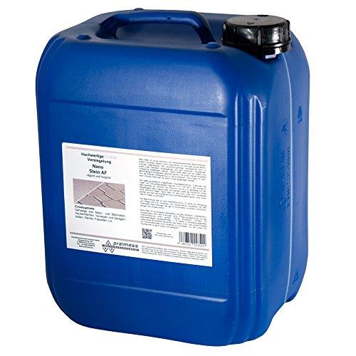 10 Liter Nano Stein AF - 34,99 EUR/Liter Steinversiegelung für Gehwege - Betonstein - Terrassenböden - Garagenböden - Dachversiegelung - Fassadenversiegelung …