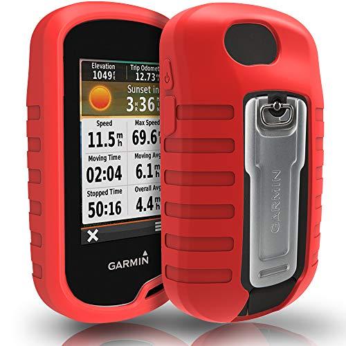 TUSITA Hülle für Garmin Oregon 600 600t 650 650t 700 750 750t - Schutzhülle aus Silikon - Handheld GPS Zubehör (ROT)