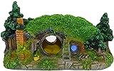 Decoraciones de los peces para el tanque de las decoraciones del tanque de peces Casa de la casa para esconderse reptil agujero casa refugio peces tanque de peces ornamento rocoso paisajismo,Verde