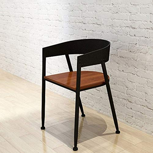 Modern Light Weight Pub Height Barstool, Tolix Style Dining Stools With Wood Seat And Backrest For Pub Bistro Kitchen (Color : Black, Size : Free size)