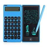WXL Calculadora plegable y tableta de escritura LCD de 6 pulgadas, almohadilla de dibujo digital con pantalla de 12 dígitos con lápiz capacitivo, función de bloqueo de botón de borrado (color: azul)