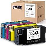 BONINK Cartuchos de tinta 953xl, 4 unidades, compatibles con impresoras HP 953 953xl OfficeJet Pro 8710 8715 8720 8725 8730 8740 8210 8218 7720 7730