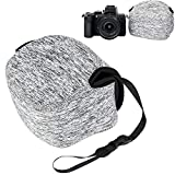 JJC Neoprene Compact Case Travel Pouch for Nikon Z50 Z 50 Camera with Nikkor DX 16-50mm Lens and HN-40 Lens Hood - Grey