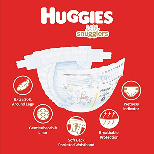 Huggies Little Snugglers Baby Diapers Size 1, 198 Ct